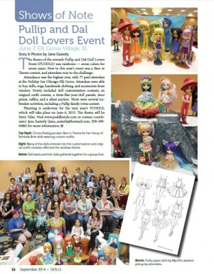 PUDDLE 2014 Coverage in DOLLS Magazine